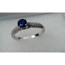 safír prsten Ag