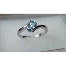 topaz modrý prsten Ag